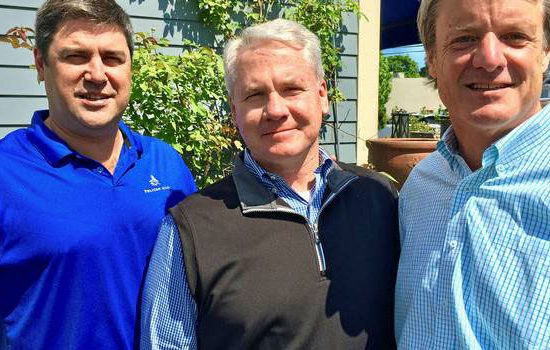 Penfield Marine partners Eric Haughn and Tim Brennan with newly recruited business development director Glenn Gronseth