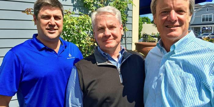 Penfield Marine partners (from left) Eric Haughn and Tim Brennan with director Glenn Gronseth Photo: Joe Brady